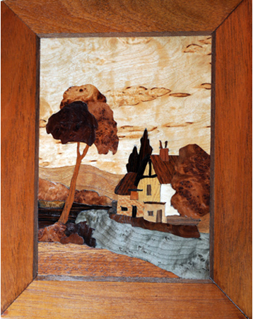 English Village in Marquetry