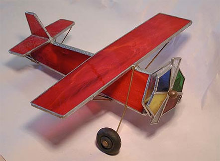 Leaded Glass Airplane Kaleidoscope