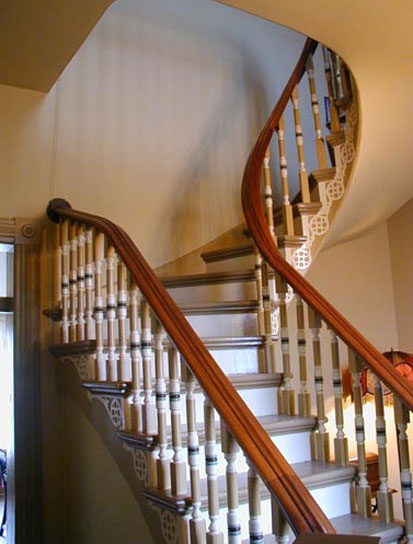 Curved Staircase in Historic Home